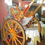 Fancy Sicilian Cart in the restaurant