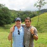Elkin and Keith on farm tour
