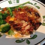 poulet à l'abricot et légumes