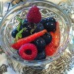 Fruit Parfait w/ mint