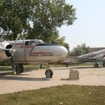 NA B-25 Mitchell and Douglas C-47 on display