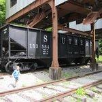 Under the coal hopper