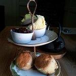 Yorkshire scones - cream and jam