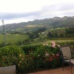 paisaje desde la terraza del hotel