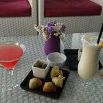 Delicious drinks artfully presented.