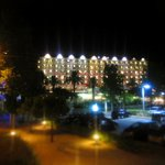 Night time view of hotel