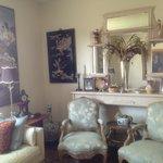 A beautiful sitting parlor.