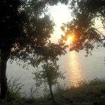 tramonto visto dal villaggio
