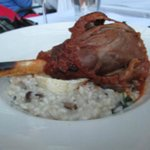 Lamb Shank with the Mushroom Risotto