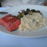 Salmon with the Lobster mash potatoes