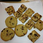 Homemade chocolate chip cookies and they're fabulous homemade granola bars!!