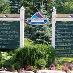 Resort entrance sign