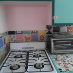 Cute tiles in Bonita kitchen
