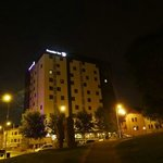 Premier Inn Bradford Central at night