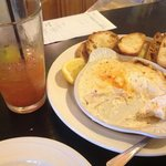 Bloody Mary and some of the best whitefish dip around!