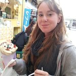 Japanese crepe in a cone!