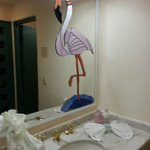 Bathroom mirror... so cute!