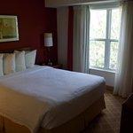 The bedroom of the 1-bedroom suite