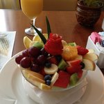 Great Fruit Bowl in the restaurant!