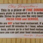 'Rules' of Chez Jacqueline