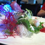 Nice presentation on the sashimi