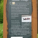 Informational sign - Middle Village Station Camp