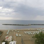 Panoramic view over the beach from my balcony