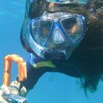 Snorkeling near Blue Caves