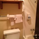 bathroom - we messed the towels, but its a tiny space.