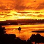 Sunset over Nelson Harbour