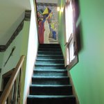 Stairway up to the 2nd floor of the King Arthur suite