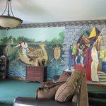 Mural in the King Arthur Suite bedroom