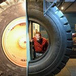 Tire in the Visitor Center