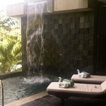 down stair pool n water fall