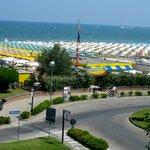 Il percorso dall'hotel alla spiaggia