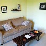 Living room of rental