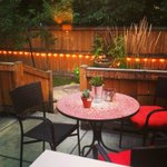 Beautiful personal patio off Travel Suite (suite also had private entrance)