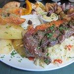 Greek Platter for Two with calamari