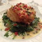 Grouper stuffed with crabmeat
