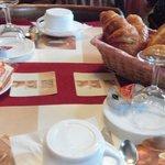 Breakfast again. Very good croissants!