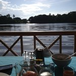View of the river during breakfast