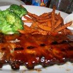 Ribs, Brocoli, Sweet Potatoe Fries