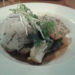 Sesame Salmon with wild rice