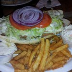 This was the whaler fish sandwich they claim it's one pound of fish