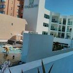 Vista desde el balcón del gimnasio y spa
