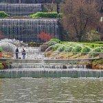 Le fontane e le cascate del laghetto dell'eur