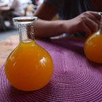 Delicious honey wine in gourds