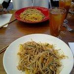 Crispy vegy and noodles