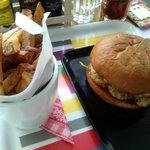 Burger w/ homemade fries