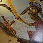 Bathroom ceiling mural